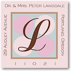 Name Doodles - Square Address Labels/Stickers (Glenwood Pink)